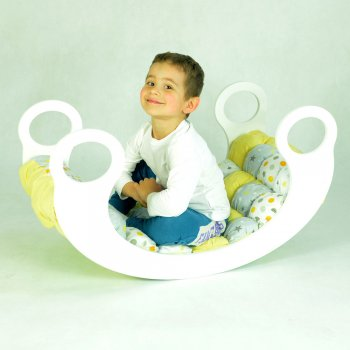 Baby cradle-swing with a mattress